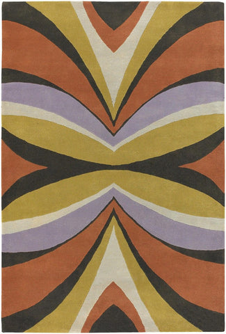 Bense Collection Hand-Tufted Area Rug, Orange & Yellow design by Chandra rugs