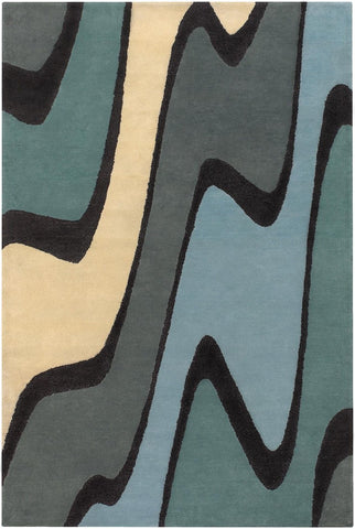 Bense Collection Hand-Tufted Area Rug, Wave