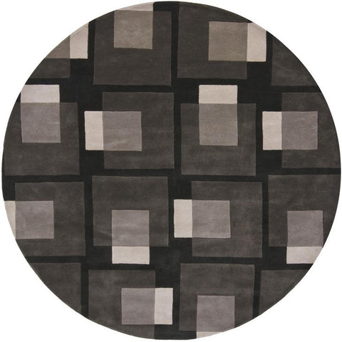 Bense Collection Hand-Tufted Area Rug, Black & Grey design by Chandra rugs