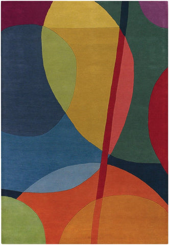 Bense Collection Hand Tufted Area Rug, Multi Color Circles Design By  Chandra Rugs ...