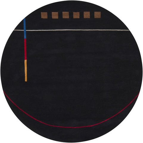Bense Collection Hand-Tufted Area Rug, Black design by Chandra rugs