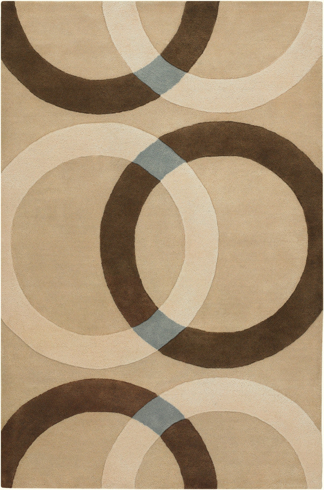 Bense Collection Hand-Tufted Area Rug in Cream & Beige  design by Chandra rugs