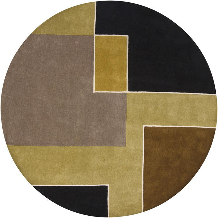 Stella Collection Hand Tufted Area Rug In Beige Light: Bense Collection Hand-Tufted Area Rug, Beige & Black