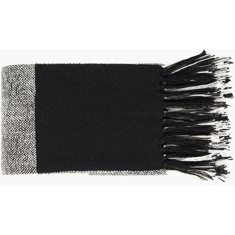 Bufflonne BFN-1001 Hand Woven Throw in Black by Surya