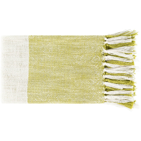 Bufflonne BFN-1003 Hand Woven Throw in Olive by Surya