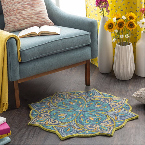 Bonifate BFT-1027 Hand Tufted Rug in Ice Blue & Denim by Surya