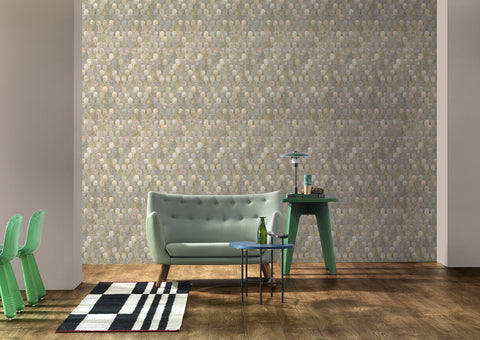 Nizwa Wallpaper in Jade Metallic by Bethan Gray for NLXL Lab