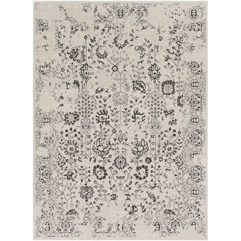 Bahar BHR-2317 Rug in Charcoal & Taupe by Surya