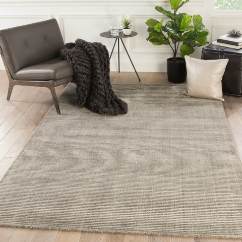 Basis Solid Rug in Brindle & Ash design by Jaipur