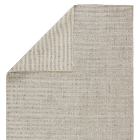 Basis Handmade Solid Ivory & Gray Area Rug