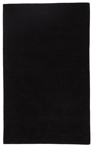 Basis Solid Rug in Jet Black design by Jaipur
