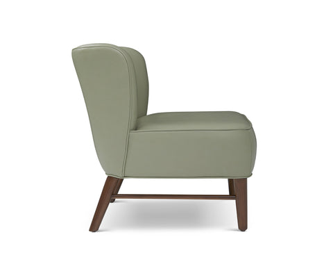 Bitsy Leather Chair in Mint