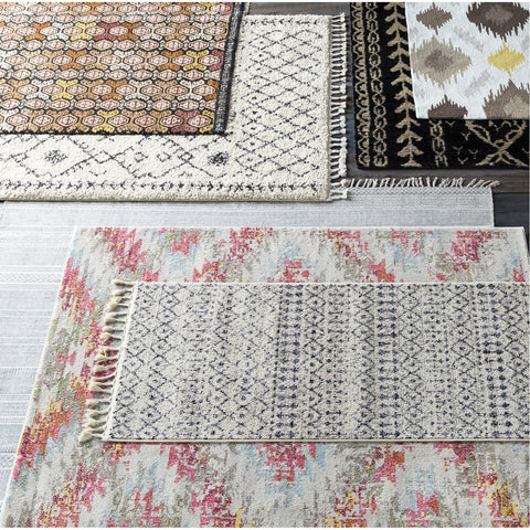 Bjorn BJR-1000 Hand Knotted Rug in Black & Khaki by Surya