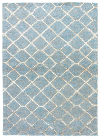 Blue Rug in Lead & Neutral Grey design by Jaipur