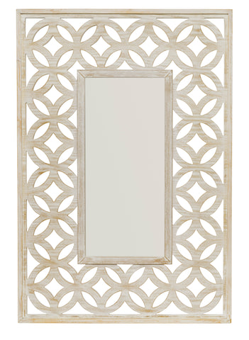 White Wash Lattice Beveled Mirror design by Jamie Young