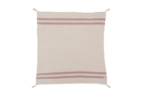 Knitted Stripes Blanket in Natural & Vintage Nude design by Lorena Canals