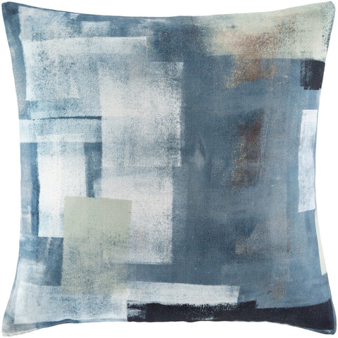 Balliano BLN-003 Woven Square Pillow in White & Teal by Surya