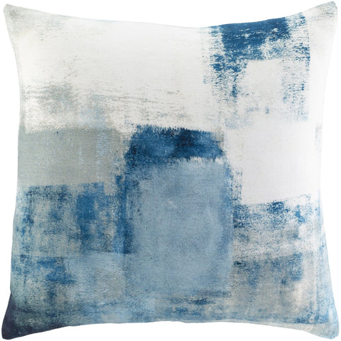 Balliano BLN-004 Woven Square Pillow in White & Bright Blue by Surya