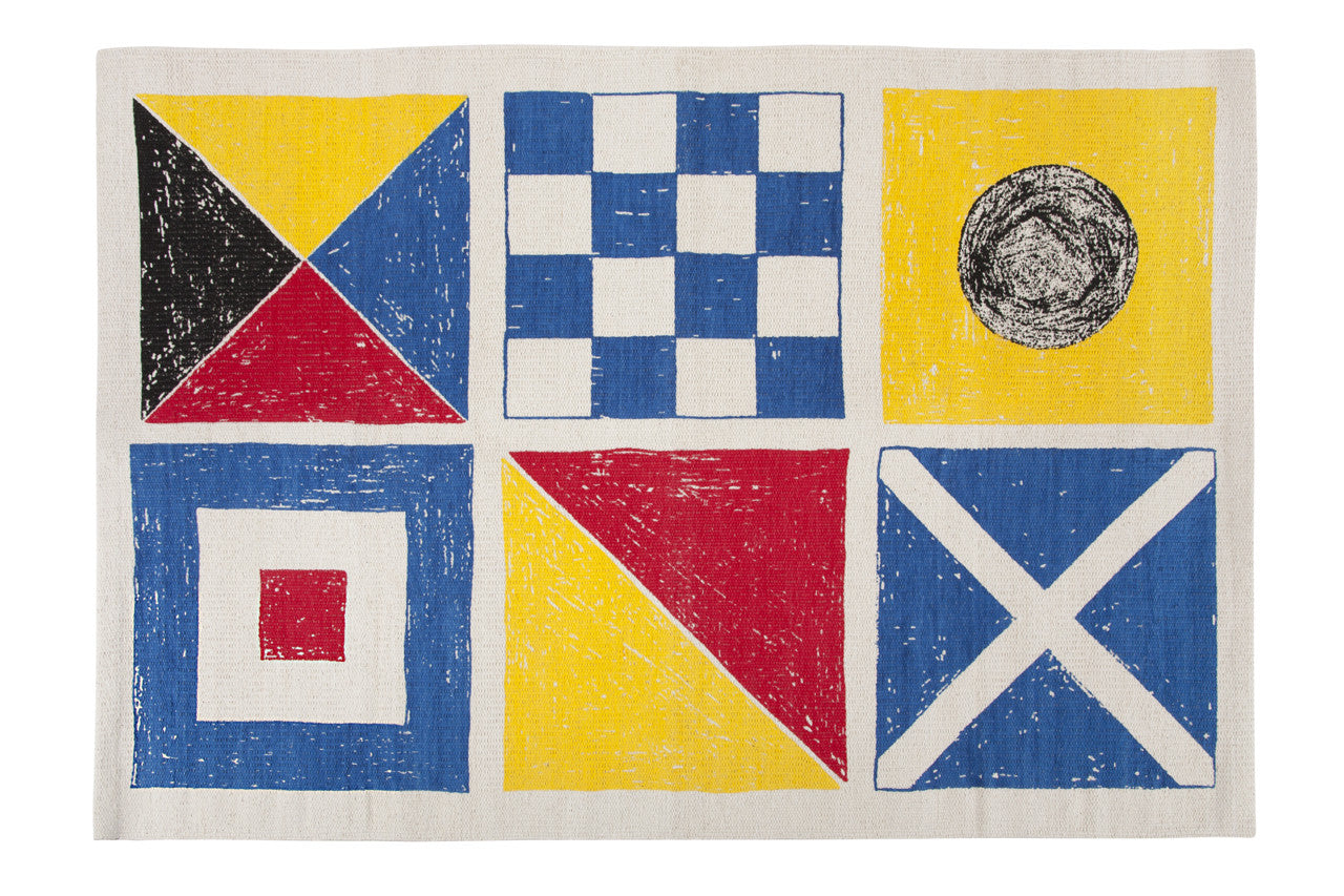 Flags Sketch Bath Mat design by Thomas Paul