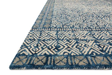 Boceto Rug in Denim / Ivory by ED Ellen DeGeneres Crafted by Loloi