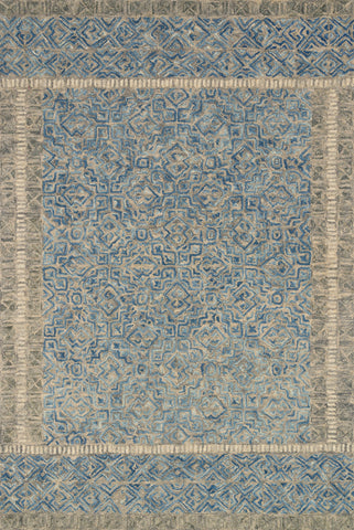 Boceto Rug in Grey / Denim by ED Ellen DeGeneres Crafted by Loloi