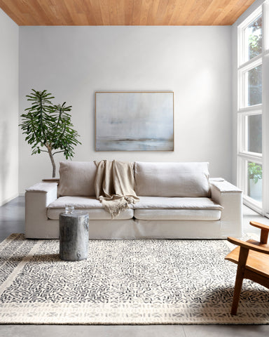 Boceto Rug in Ivory / Black by ED Ellen DeGeneres Crafted by Loloi