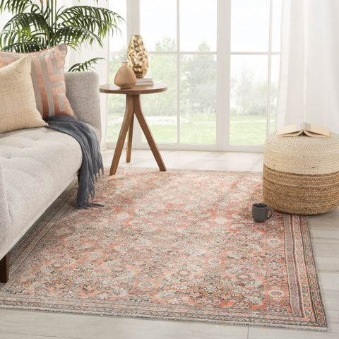 Thistle Oriental Orange/ Cream Rug by Jaipur Living
