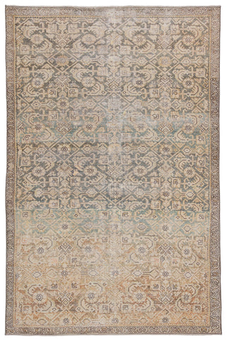Atkins Trellis Gold/ Green Rug by Jaipur Living