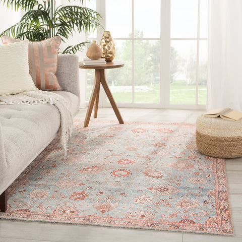 Poppy Oriental Light Blue/ Orange Rug by Jaipur Living