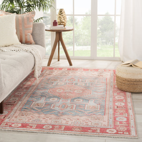 Fiddler Medallion Pink/ Blue Rug by Jaipur Living