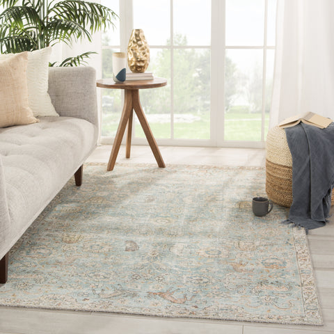 Stag Oriental Teal/ Gold Rug by Jaipur Living