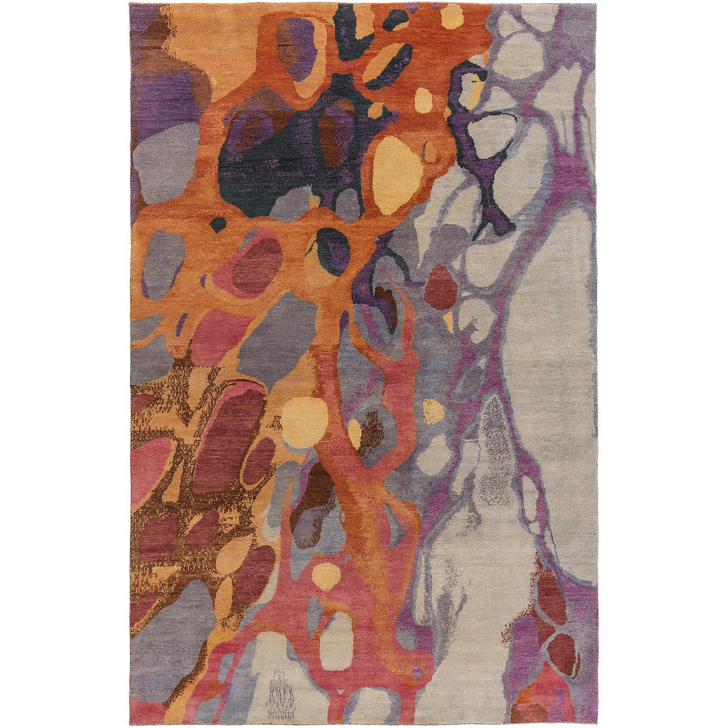 Brought to Light BOL-4006 Hand Knotted Rug in Dark Red & Rose by Surya