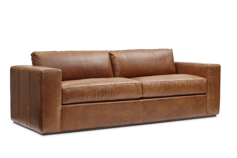 Bolo Leather Sofa in Carriage