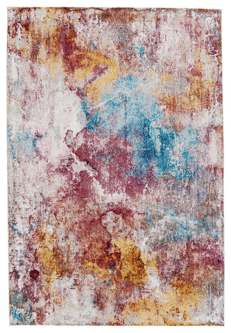 Comet Abstract Rug in Multicolor & Red by Jaipur Living