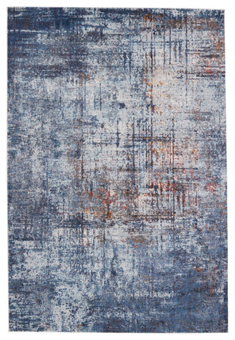 Donati Abstract Rug in Blue & Orange by Jaipur Living