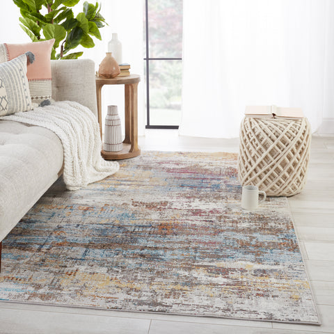 Janus Abstract Rug in Multicolor & White by Jaipur Living