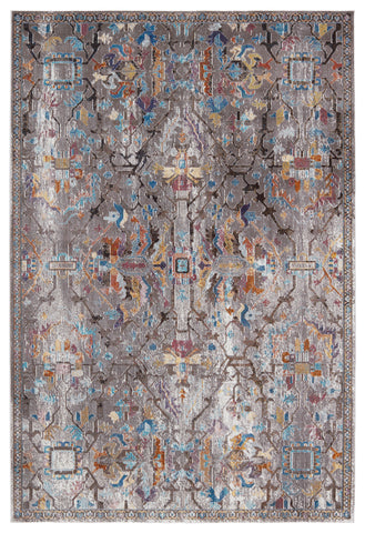 Namid Trellis Rug in Gray & Multicolor by Jaipur Living