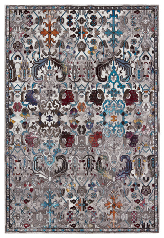 Sabik Trellis Rug in Multicolor & Gray by Jaipur Living