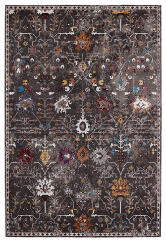 Zaniah Trellis Rug in Black & Multicolor by Jaipur Living