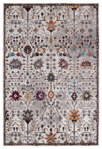Zaniah Trellis Rug in White & Multicolor by Jaipur Living