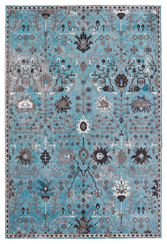 Zaniah Trellis Rug in Light Blue & Gray by Jaipur Living