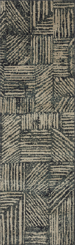 Bowery Rug in Midnight / Taupe by Loloi II