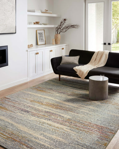 Bowery Rug in Pebble / Multi by Loloi II