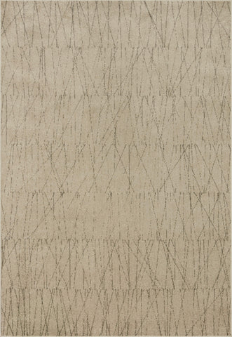 Bowery Rug in Beige / Pepper by Loloi II