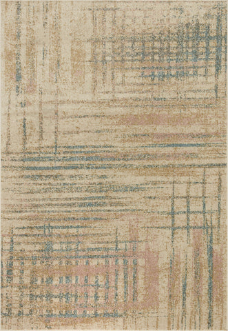 Bowery Rug in Beige / Multi by Loloi II