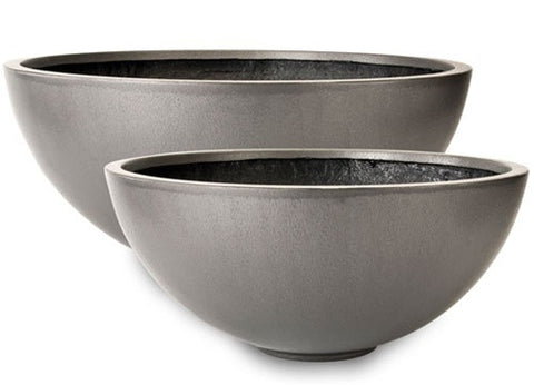 Bowl Planters in Faux Lead Finish design by Capital Garden Products