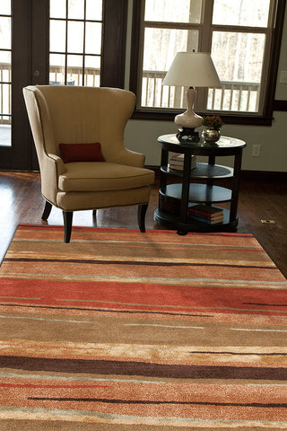 Baroque Rug in Arabian Spice & Stormy Sea design by Jaipur Living
