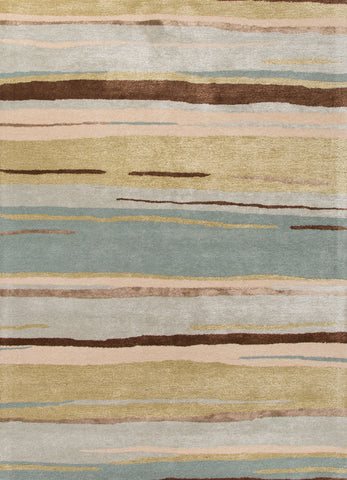Bernini Handmade Abstract Multicolor Area Rug
