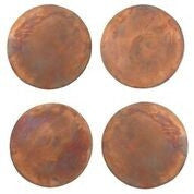 Set of 4 Copper Coasters design by Sir/Madam