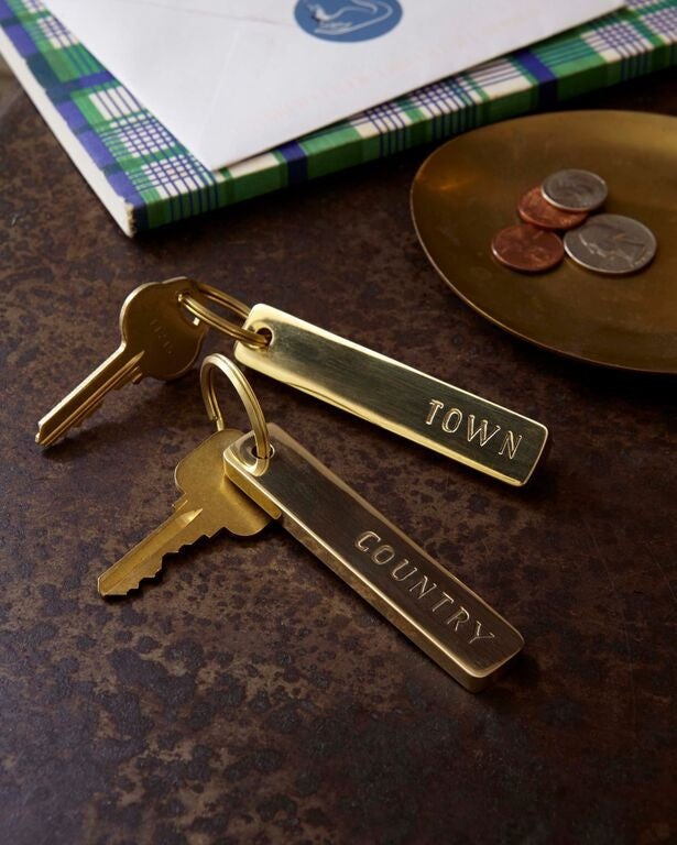 Town & Country Key Chain Pair design by Sir/Madam